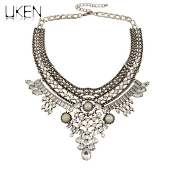Women Statement Chokers Necklaces Double Alloy Chain Twine Knot Pendant Fashion Jewelry Accessories For Dress
