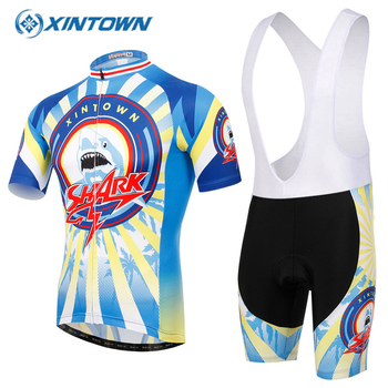Bisiklet jersey XINTOWN Bisiklet Giyim MTB Bisiklet Jersey Tenue Cycliste Pro Maillot Ciclismo JEL Nefes Ped Tour De France