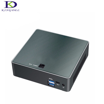 Kingdel Yeni Mini masaüstü PC HTPC Core i7 7500U up 3.5 GHz HD Grafik 620 için HDMI 4 K LAN USB3.0 HTPC F300